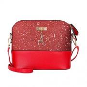 WILLTOO Womens Sequins Bag Fashion Handbag Purse Crossbody Shoulder Messenger Bag Deer - Hand bag - $2.65