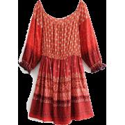Waist-bohemian printed one-shoulder long - ワンピース・ドレス - $27.99  ~ ¥3,150