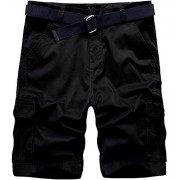 Wantdo Men's Belted Relaxed Cotton Cargo Shorts - Shorts - $35.00