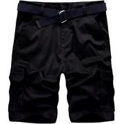 Wantdo Men's Belted Relaxed Cotton Cargo Shorts - Hlače - kratke - $35.00  ~ 222,34kn