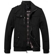 Wantdo Men's Cotton Stand Collar Windbreaker Jacket - Outerwear - $45.79