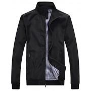 Wantdo Men's Lightweight Bomber Jacket Spring Windbreaker Casual Sport Zip Outerwear - Outerwear - $59.94