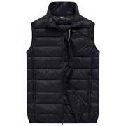 Wantdo Men's Packable Travel Light Weight Insulated Down Puffer Vest with Chest Pocket - Outerwear - $79.99