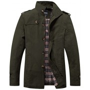 Wantdo Men's Stand Collar Cotton Classic Jacket - Outerwear - $99.00