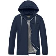 Wantdo Men's Windbreaker Shell Jacket Quick Dry UV Protect Skin Jacket with Folding Hood - Outerwear - $63.49  ~ 403,32kn