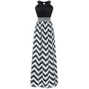 Wantdo Women's Boho Beach Dress Maxi Dress Plus Size with Wave Striped - Dresses - $21.97