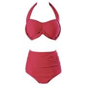 Wantdo Women's Flatting Halter Swimwear High Waist Bikini Plus Size Swimsuits - Kupaći kostimi - $29.96  ~ 190,32kn