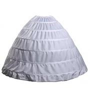 Wantdo Women's Wedding Gown Bridal Crinoline Petticoat Hoop Skirt One Size White - Underwear - $29.62