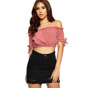 WearAll Women's Ripped Distressed Short Button Pocket Denim Mini Skirt - Skirts - $15.94