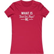 What is Black Girl Magic? Red Women's Fitted T-Shirt - T-shirts - $22.99
