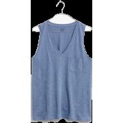 Whisper Cotton V-Neck Pocket Tank - Shirts - kurz -
