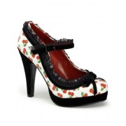 White Patent Cherries Print Mary Janes - 10 - Sapatos - $49.30  ~ 42.34€