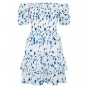 White Floral Bardot Dress - Dresses -