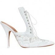 White Open Heel Pump - Other -