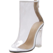 White Transparent Ankle Boots - Stiefel - $60.19  ~ 51.70€