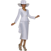 White skirt suit - People -