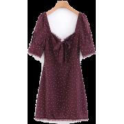 Wild lace-up lace dress - Dresses - $27.99