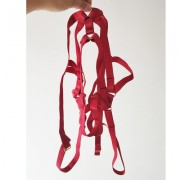 Wine red cross adjustable sex harness un - Uncategorized - $17.99