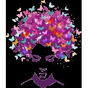 Woman butterfly hair - Illustrazioni -
