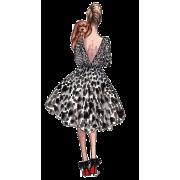 Woman fashion sketch - Illustrazioni -