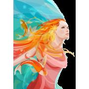 Woman watercolour (mermaid) - Illustrazioni -