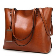 Women Tote Purse For Work Soft Leather Top Handle Satchel Handbags Shoulder Bag - Bag - $34.99