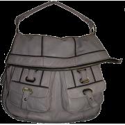 Women's Large Oryany Genuine Leather Hobo Handbag (Light Grey) - Hand bag - $395.00