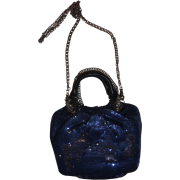 Women's Oryany Purse Mini Evening Sequin Handbag Wendy Navy - Hand bag - $165.00