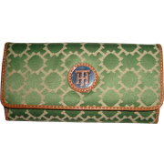 Women's Tommy Hilfiger Continental Checkbook Wallet (Green & White) - Wallets - $48.00