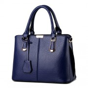 Women's Top-Handle Handbags East-West Faux Leather Shoulder Tote Bag Medium - Bag - $28.99