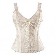 Women Sexy Boned Lace up Corsets and Strap Bustiers Top Overbust Shaper - Underwear - $30.99