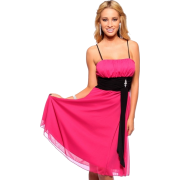 Womens Black Contrast Sleeveless Strap Cocktail Evening Formal Party Dress - sukienki - $37.99  ~ 32.63€