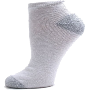Womens Cotton Performance Athletic Low Cut Socks - 12 PAIRS - Colors Available White / Grey Heel & Toe - Underwear - $14.99