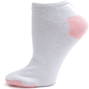 Womens Cotton Performance Athletic Low Cut Socks - 12 PAIRS - Colors Available White / Pink Heel & Toe - Underwear - $14.99