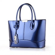Womens Medium Size Designer Faux Leather Stylish Top-Handle HandbagTote Shoulder Bag - Bag - $29.99