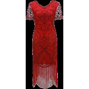 Women's 1920s Vintage Flapper Fringe - Dresses - $33.88