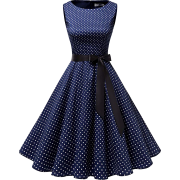 Women's 50s 60s Rockabilly Cocktail Dress Sleeveless Vintage Prom Swing Party Dr - Dresses - £12.99