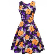 Women's 50s 60s Vintage Cocktail Rockabilly Party Swing Dress - Dresses - $26.99  ~ £20.51