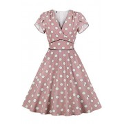 Women's Audrey Hepburn Vintage Style Rockabilly Swing Dress - Dresses - $24.99