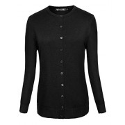 Women's Button Down Knit Short Sweater Cardigan - Long sleeves shirts - $19.98