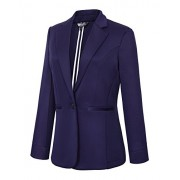 Women's Casual One Button Office Blazer Jacket - Suits - $30.86