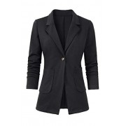 Women's Casual Work Office Blazer Open Front Long Sleeve Cardigan Jacket - Sakoi - $19.99  ~ 17.17€