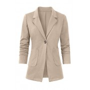 Women's Casual Work Office Blazer Open Front Long Sleeve Cardigan Jacket - Sakoi - $31.99  ~ 27.48€