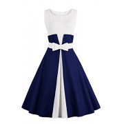 Womens Retro 1950s Cocktail Dresses Vintage Swing Dress - Dresses - $27.99