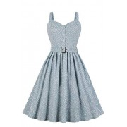 Women's Rockabilly 50s Vintage Halter Cocktail Swing Dress - Kleider - $24.99  ~ 21.46€