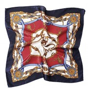 Women's Satin Silk Neckerchief Large Square Scarf Headscarf Headdress 19.7 Inch - Accessories - $6.99