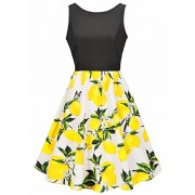 Womens Sexy Vintage Retro O-neck Multi Color Summer Dress Ball Gown - Dresses - $26.99  ~ £20.51