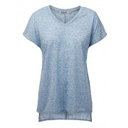 Womens Short Sleeve V-Neck High Low Dolman Top - Made in USA - Shirts - $24.21