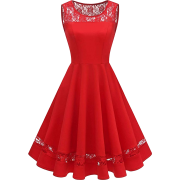 Women's Vintage 1950s Cocktail Swing Dress Retro Sleeveless Prom Party Dress - Dresses - £17.99
