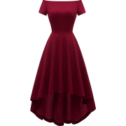 Women's Vintage Cocktail Dress Off The Shoulder High Low Formal Bridesmaid Dress - Dresses - £25.99